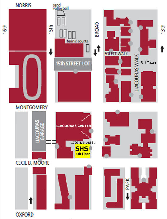 Student Health Services' location on Temple's Main Campus.
